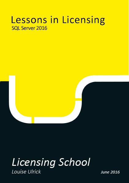 Licensing SQL Server 2016